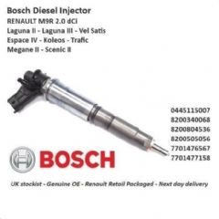 Brand New Genuine Bosch Diesel Fuel Injector - 0445115007 2.0 Dci M9R